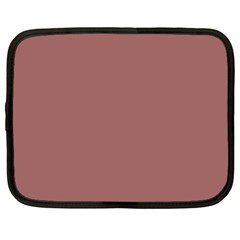 Blush Gold Coppery Pink Solid Color Netbook Case (large) by PodArtist