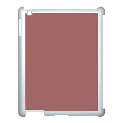 Blush Gold Coppery Pink Solid Color Apple Ipad 3/4 Case (white) by PodArtist