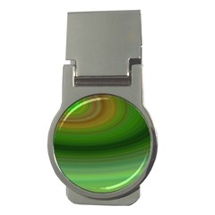 Green Background Elliptical Money Clips (round)  by Nexatart