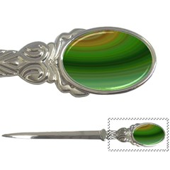 Green Background Elliptical Letter Openers