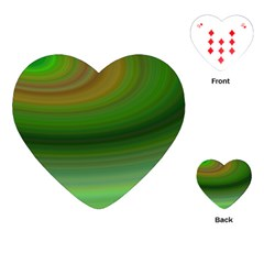 Green Background Elliptical Playing Cards (heart)  by Nexatart