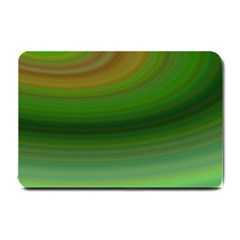 Green Background Elliptical Small Doormat  by Nexatart