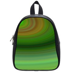 Green Background Elliptical School Bag (small)