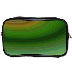 Green Background Elliptical Toiletries Bags 2 Side