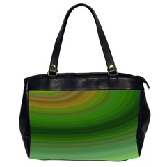 Green Background Elliptical Office Handbags (2 Sides)  by Nexatart
