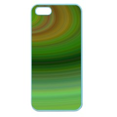 Green Background Elliptical Apple Seamless Iphone 5 Case (color)