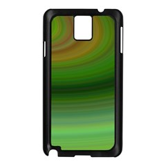 Green Background Elliptical Samsung Galaxy Note 3 N9005 Case (black)