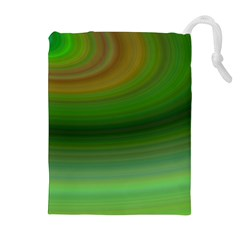 Green Background Elliptical Drawstring Pouches (extra Large)