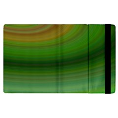 Green Background Elliptical Apple Ipad Pro 9 7   Flip Case by Nexatart