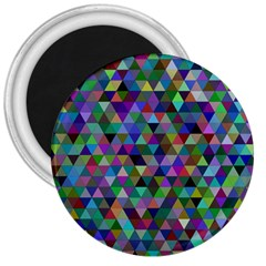 Triangle Tile Mosaic Pattern 3  Magnets