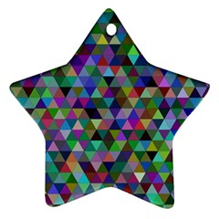 Triangle Tile Mosaic Pattern Ornament (star) by Nexatart
