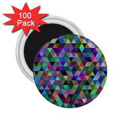 Triangle Tile Mosaic Pattern 2 25  Magnets (100 Pack)