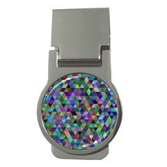 Triangle Tile Mosaic Pattern Money Clips (round)  by Nexatart