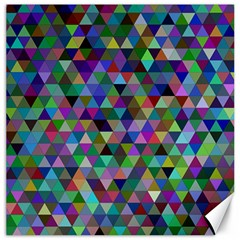 Triangle Tile Mosaic Pattern Canvas 12  X 12   by Nexatart