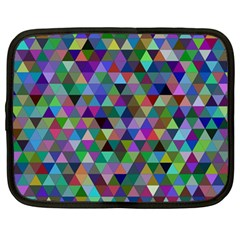 Triangle Tile Mosaic Pattern Netbook Case (large) by Nexatart