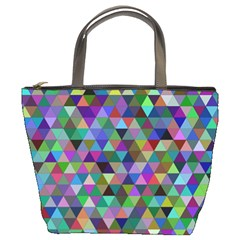 Triangle Tile Mosaic Pattern Bucket Bags by Nexatart