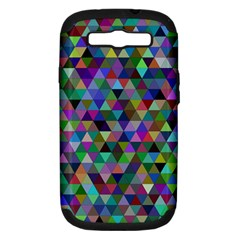 Triangle Tile Mosaic Pattern Samsung Galaxy S Iii Hardshell Case (pc+silicone) by Nexatart