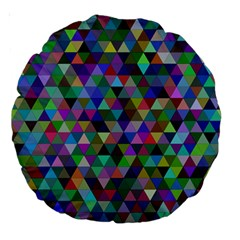 Triangle Tile Mosaic Pattern Large 18  Premium Round Cushions by Nexatart