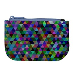Triangle Tile Mosaic Pattern Large Coin Purse by Nexatart