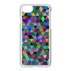 Triangle Tile Mosaic Pattern Apple Iphone 7 Seamless Case (white) by Nexatart