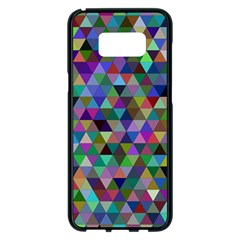 Triangle Tile Mosaic Pattern Samsung Galaxy S8 Plus Black Seamless Case