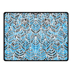 Blue Feathers  Double Sided Fleece Blanket (small)  by GabriellaDavid