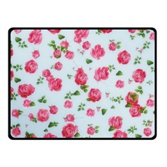 Lovely Roses  Fleece Blanket (small) by GabriellaDavid