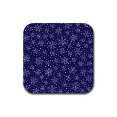 Pattern Circle Multi Color Rubber Square Coaster (4 Pack)