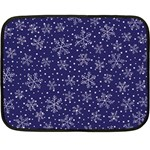 Pattern Circle Multi Color Double Sided Fleece Blanket (Mini)  35 x27 Blanket Back