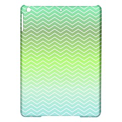 Green Line Zigzag Pattern Chevron Ipad Air Hardshell Cases by Nexatart