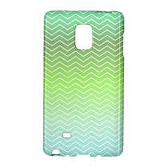 Green Line Zigzag Pattern Chevron Galaxy Note Edge by Nexatart