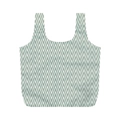 Vintage Pattern Chevron Full Print Recycle Bags (m)