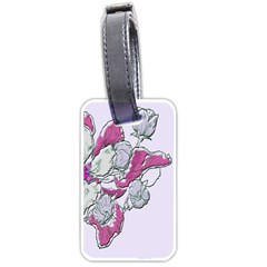 Bouquet Flowers Plant Purple Luggage Tags (two Sides) by Nexatart