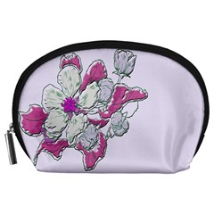 Bouquet Flowers Plant Purple Accessory Pouches (large)  by Nexatart