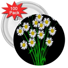 Bouquet Geese Flower Plant Blossom 3  Buttons (100 Pack)