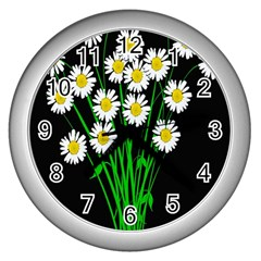 Bouquet Geese Flower Plant Blossom Wall Clocks (silver)  by Nexatart