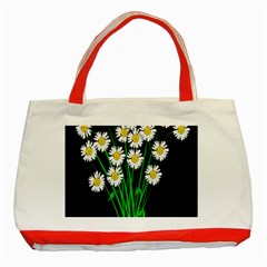Bouquet Geese Flower Plant Blossom Classic Tote Bag (red)