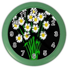 Bouquet Geese Flower Plant Blossom Color Wall Clocks