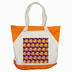 Pattern Background Purple Yellow Accent Tote Bag