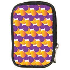 Pattern Background Purple Yellow Compact Camera Cases by Nexatart