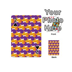 Pattern Background Purple Yellow Playing Cards 54 (mini)  by Nexatart