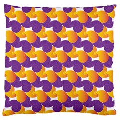 Pattern Background Purple Yellow Large Cushion Case (two Sides) by Nexatart