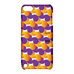 Pattern Background Purple Yellow Apple Ipod Touch 5 Hardshell Case With Stand
