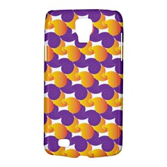 Pattern Background Purple Yellow Galaxy S4 Active