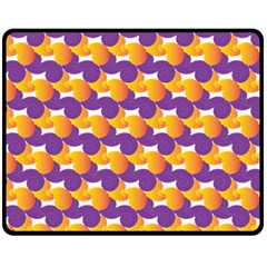Pattern Background Purple Yellow Double Sided Fleece Blanket (medium)  by Nexatart