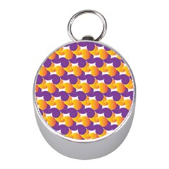 Pattern Background Purple Yellow Mini Silver Compasses