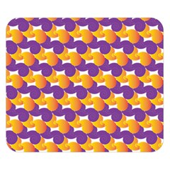 Pattern Background Purple Yellow Double Sided Flano Blanket (small)  by Nexatart
