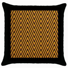 Chevron Brown Retro Vintage Throw Pillow Case (black)