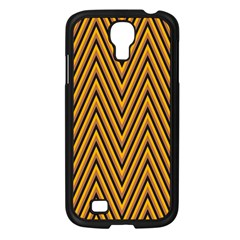 Chevron Brown Retro Vintage Samsung Galaxy S4 I9500/ I9505 Case (black) by Nexatart