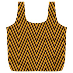 Chevron Brown Retro Vintage Full Print Recycle Bags (l)  by Nexatart
